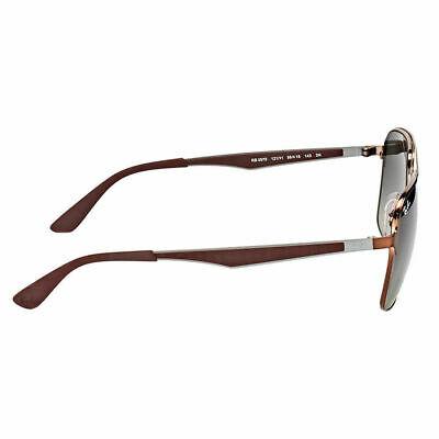 Ray-Ban RB3570 121/11 Brown Metal Square Sunglasses Grey Gradient Lens 58mm 3
