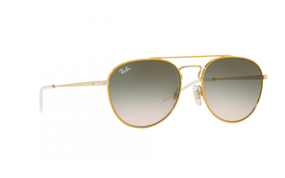Ray Ban Sunglasses RB3589 90582C 55MM Yellow & Gold / Green Gradient Lens 3